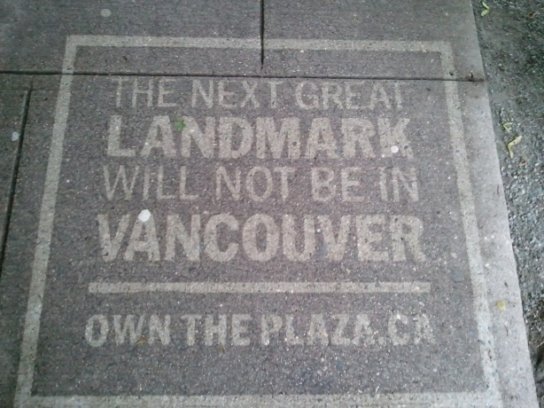 Civic Plaza side walk ad
